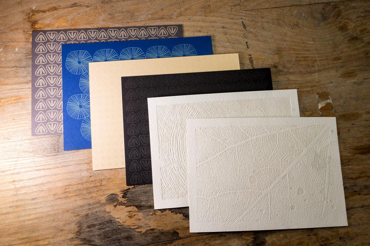 Laser engraved postcards - Detail of pattern 1