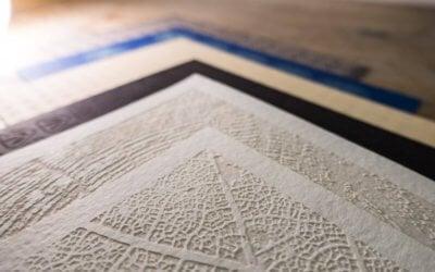 Laser gravierte Postkarten - Detail von Muster 1
