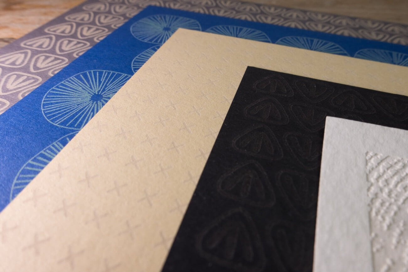 Laser engraved postcards - Detail of pattern 6