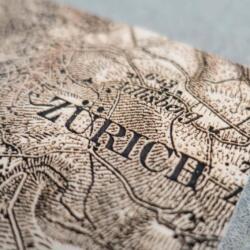 Gravurdetail der Dufourkarte von Zürich