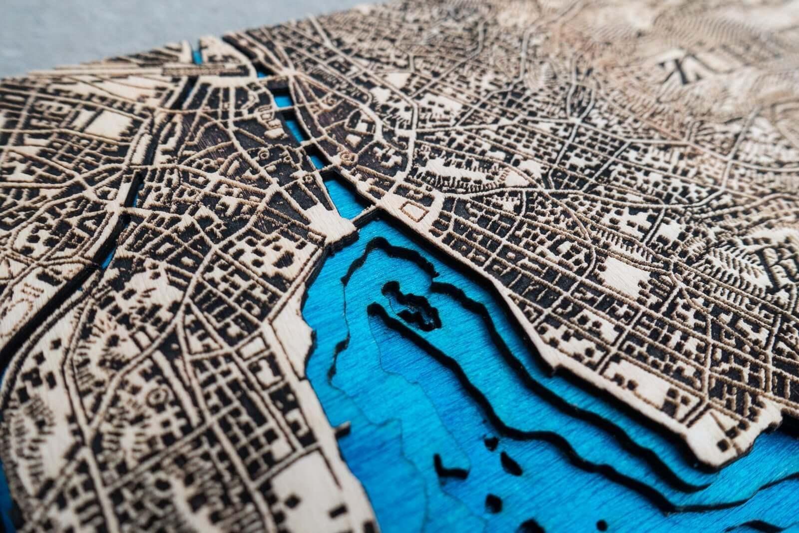 Topographic Map of Zurich | Showcase | Laser Atelier on
