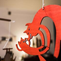 Fuchs mit Kind - Lasercut Baby Mobile