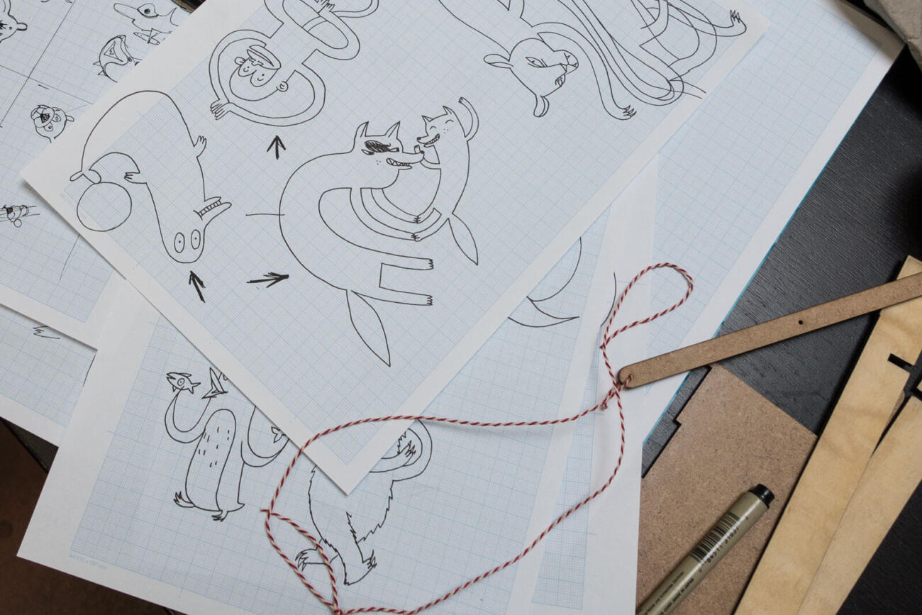 Sketches by Kooni - Lasercut Baby Mobile
