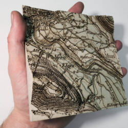 Lasercut dufour map size