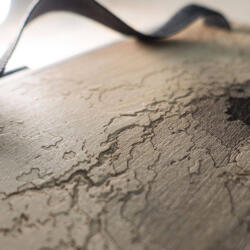Lasercut Mars Sketchbook - Engraved topography of Gale crater on Mars by Robin Hanhart