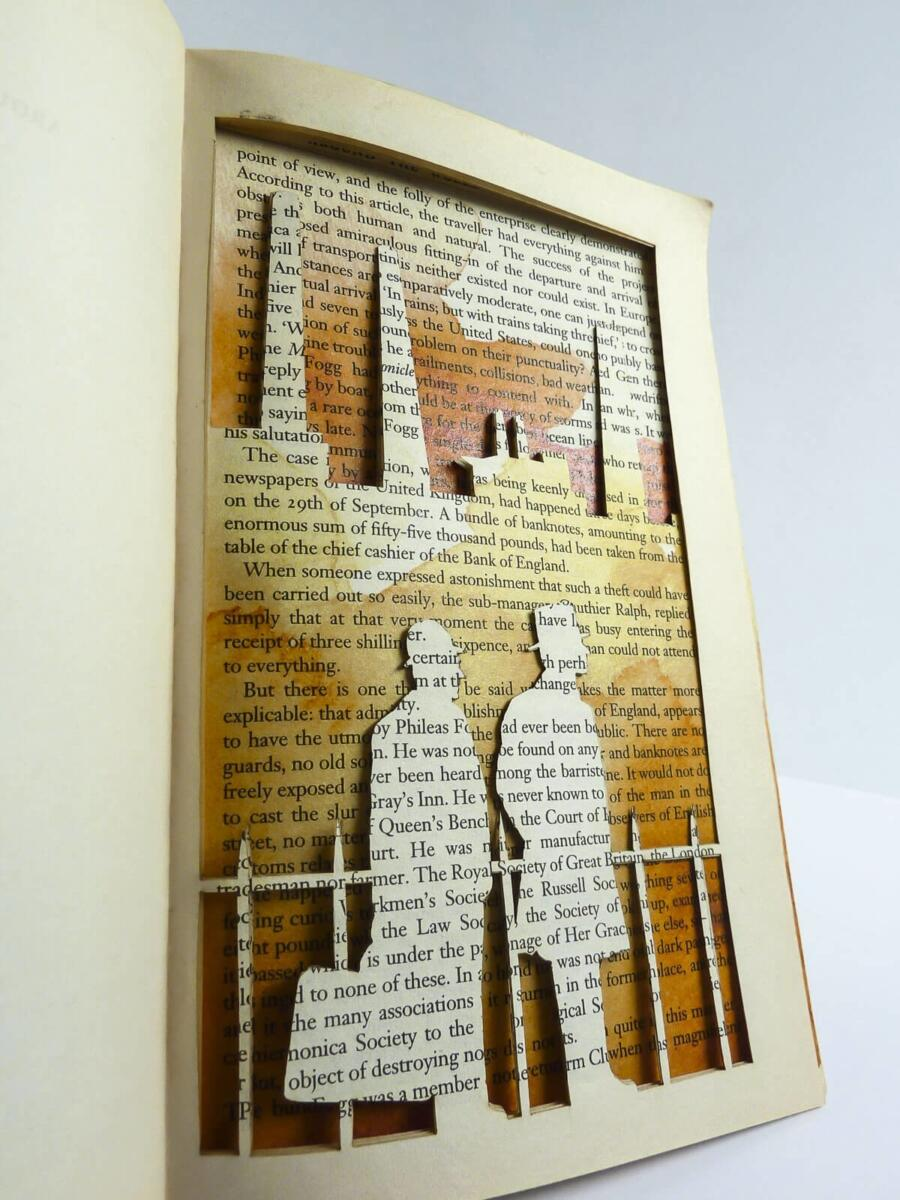 Lasercut Book - Around the World in 80 Days - London