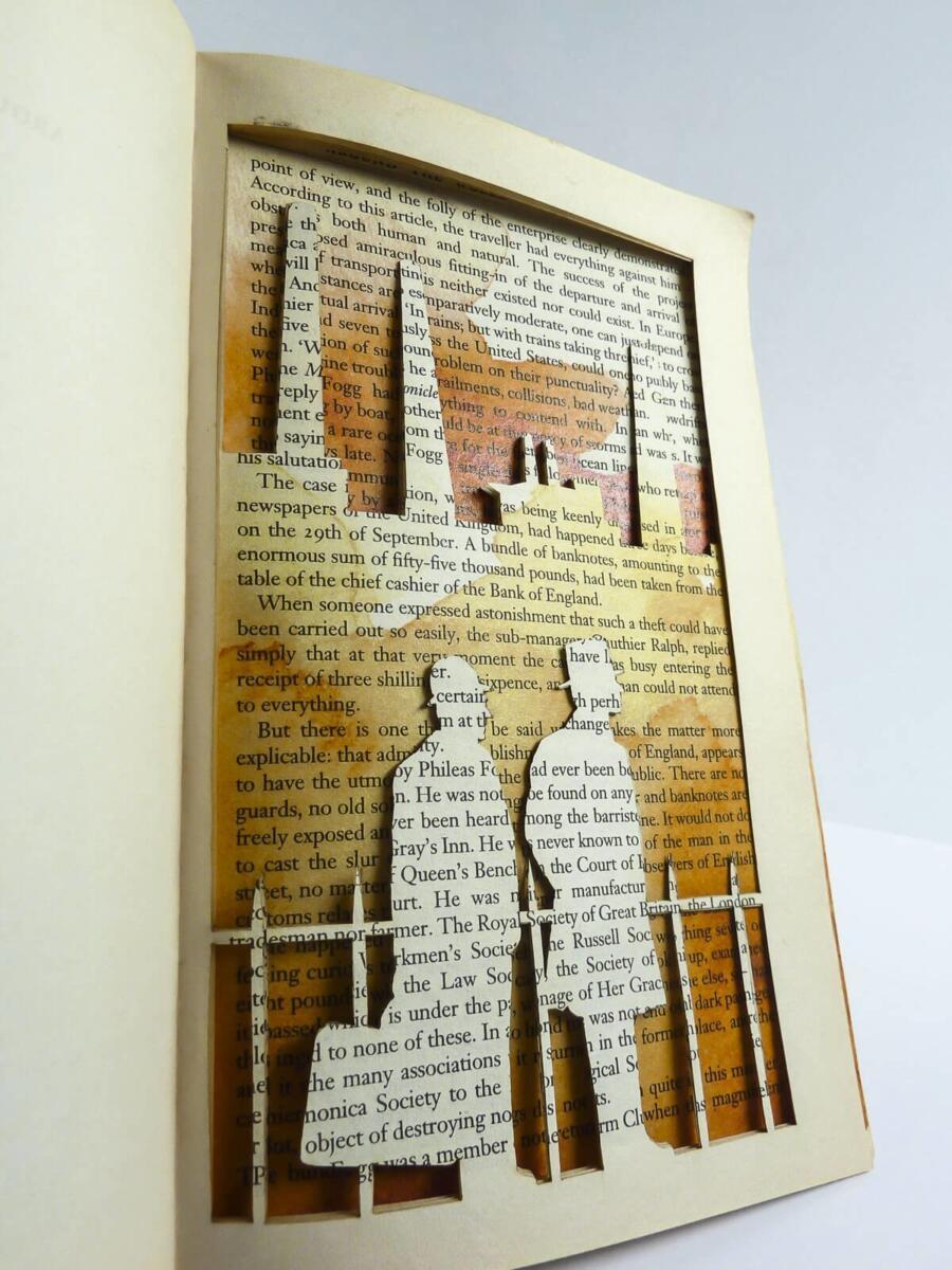 Lasercut Buch - In 80 Tagen um die Welt - London