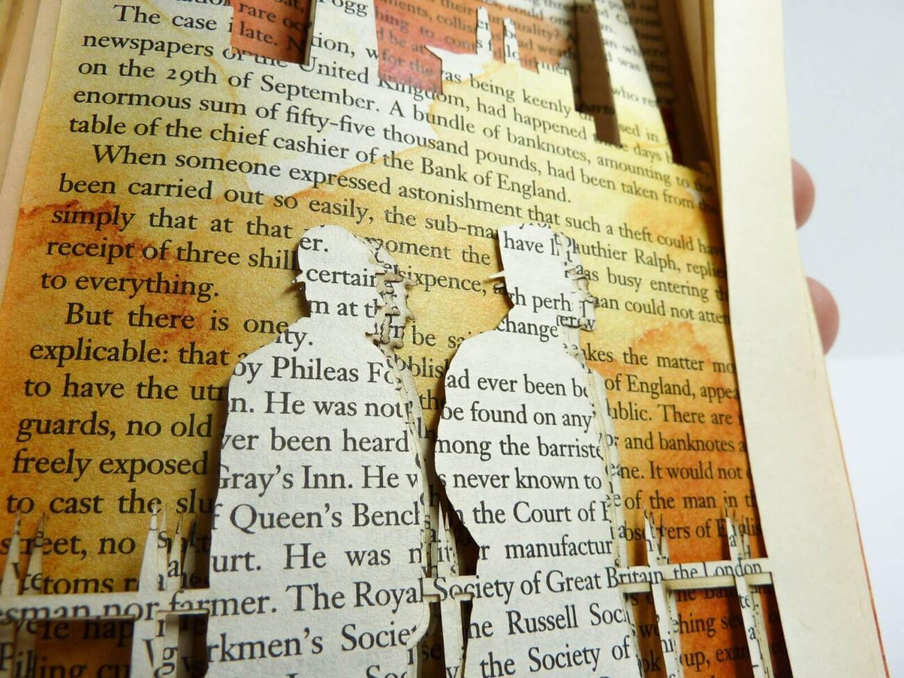 Lasercut Buch - In 80 Tagen um die Welt - London Detail von Robin Hanhart