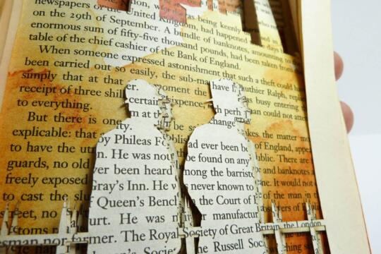 Lasercut Book - Around the World in 80 Days - London Detail by Robin Hanhart