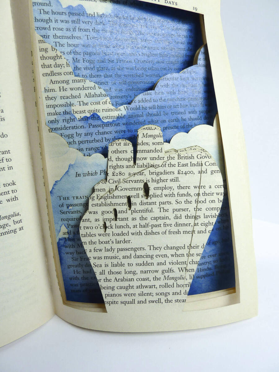 Lasercut Book - Around the World in 80 Days - Ship by Robin Hanhart