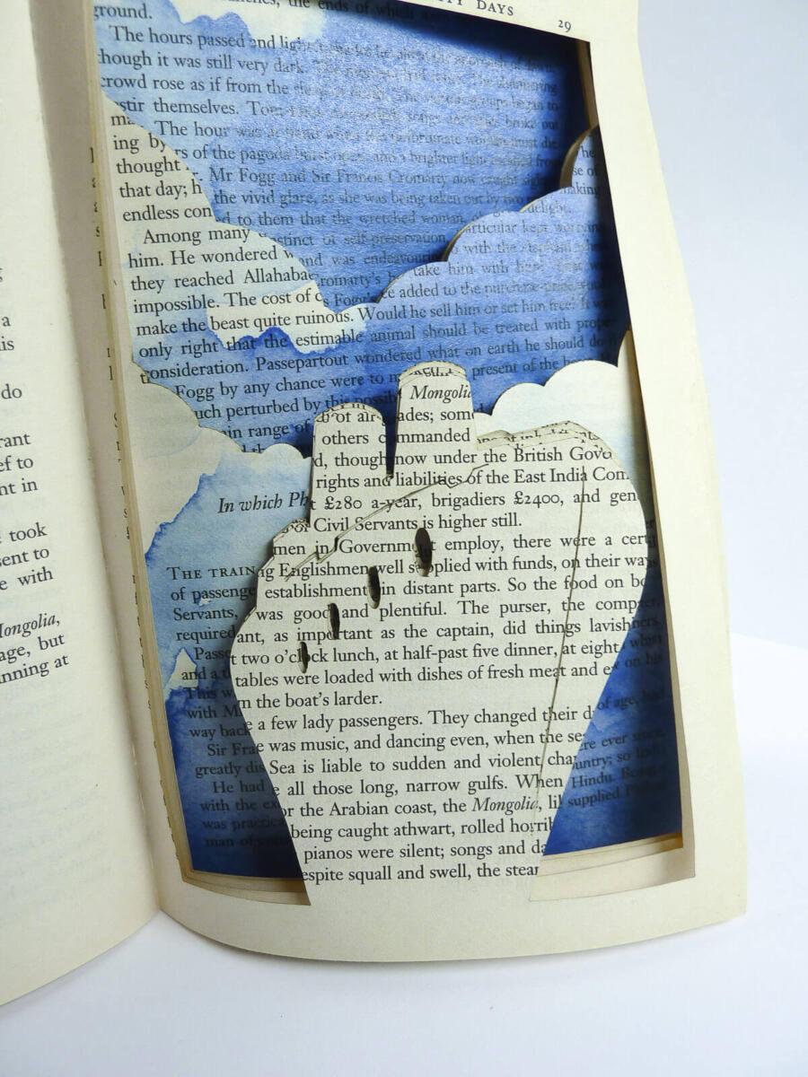 Lasercut Buch - In 80 Tagen um die Welt - Schiff von Robin Hanhart
