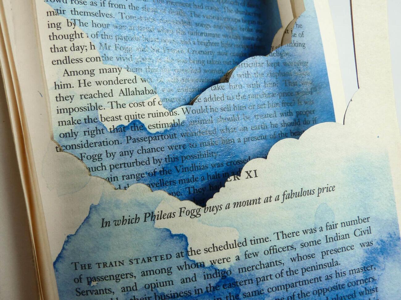 Lasercut Buch - In 80 Tagen um die Welt - Schiff Detail
