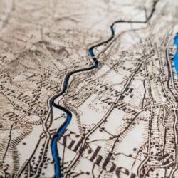 Dufour Map of Zurich 1944 - Laser engraved in Wood - Detail 4