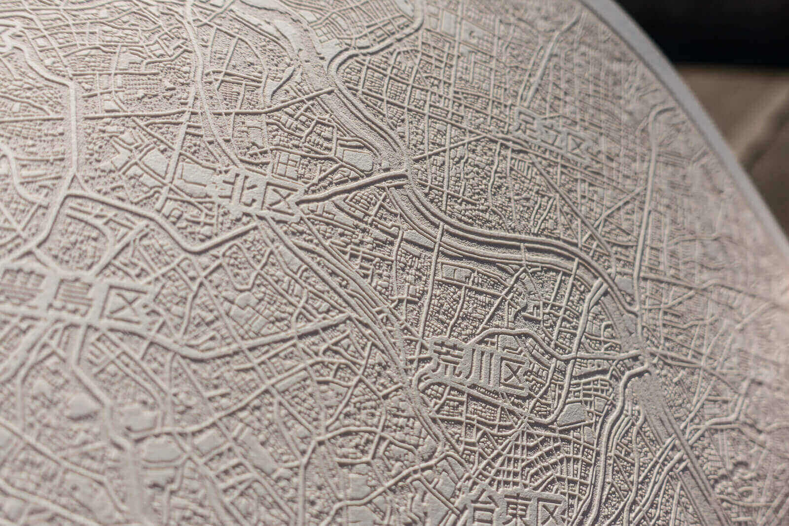 Paper Map Of Tokyo Japan Showcase Laser Atelier
