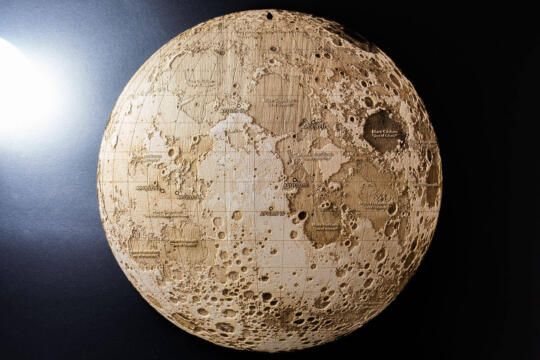 Topographic Map of the Moon Luna by Robin Hanhart