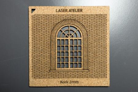 Laser engraving and cutting in cork for architectural sample