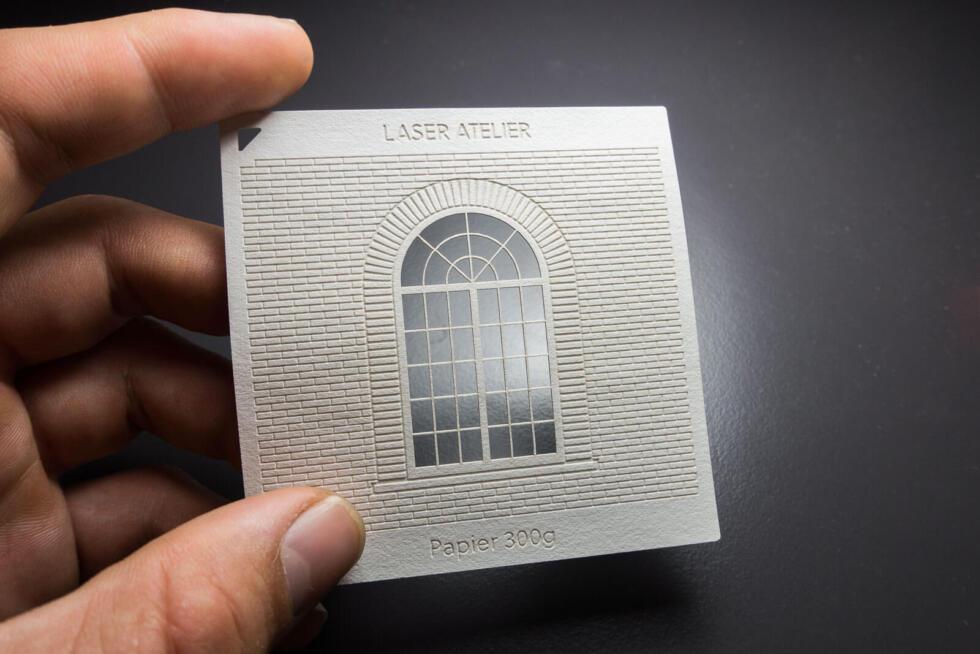 Material Muster für Architektur Modelle - Lasergravur in Papier