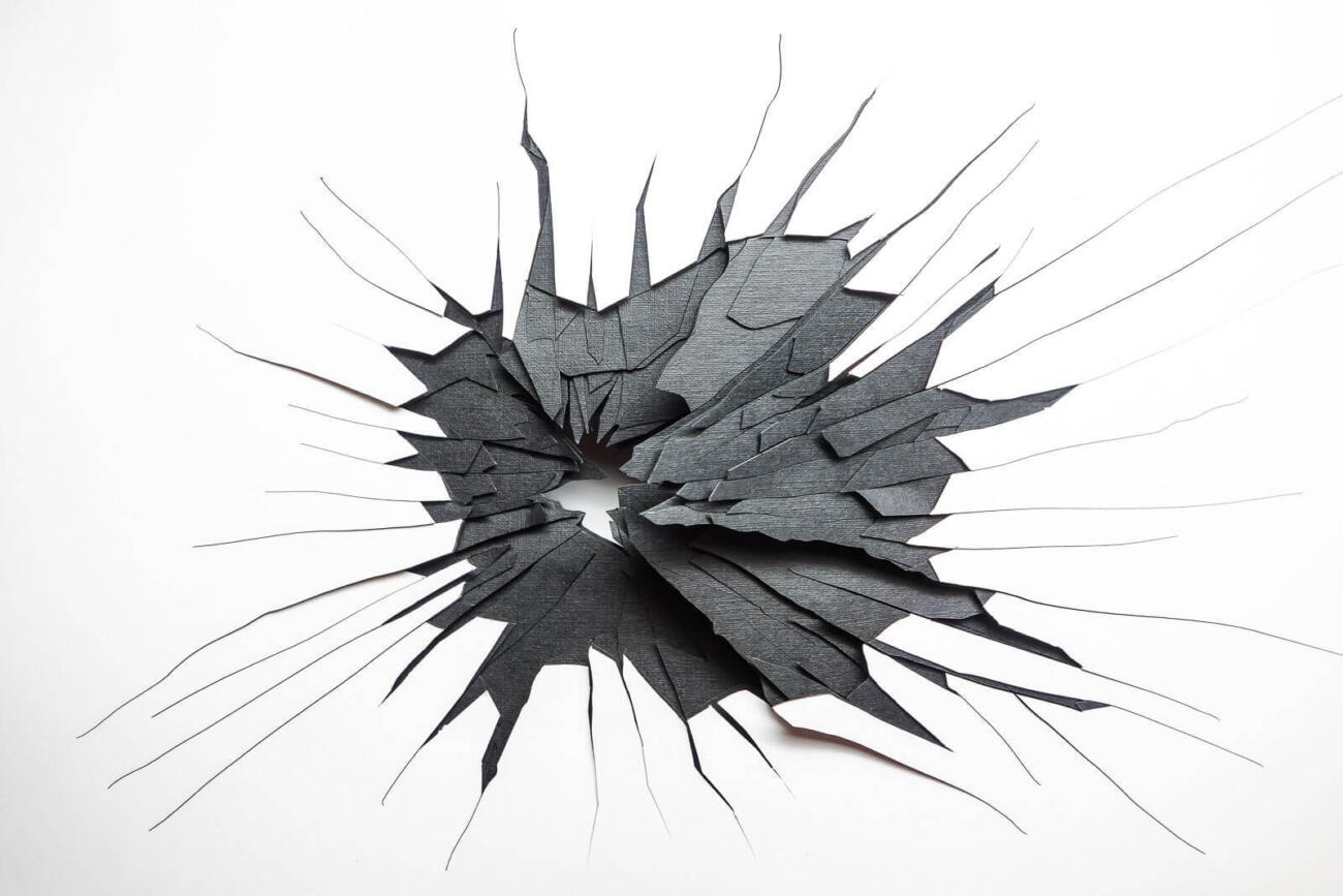 Paper fragments - Graphic design and laser cut by Robin Hanhart.
